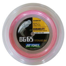YONEX BG65 Titanium Roze 200 METER
